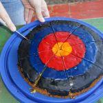 Siegerkuchen in Zielscheibenform
